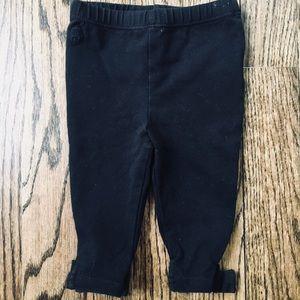 EUC Ralph Lauren black bow leggings size 6 months